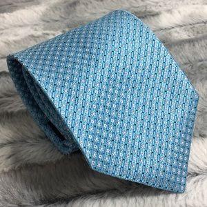 Brooks Brothers silk tie - blue/white diamonds